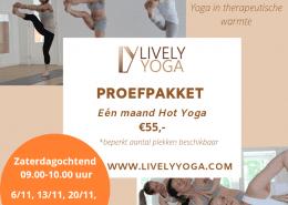 Hot Yoga proefpakket zaterdag